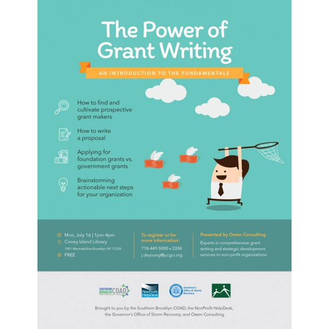 Power of Grant Writing Flyer - Flyer - Type Click Design Base - how to write a flyer