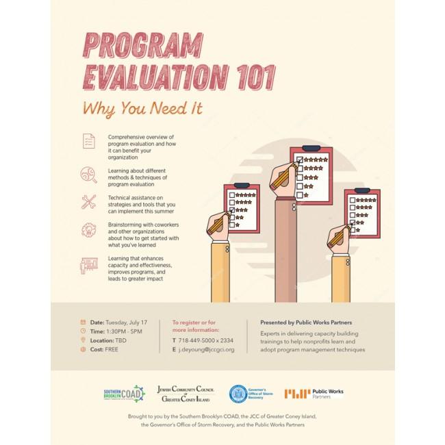 Program Evaluation Flyer - Flyer - Type Click Design Base