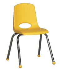Ecr4Kids 16 Plastic School Stack Chair Chrome-Yellow | eBay