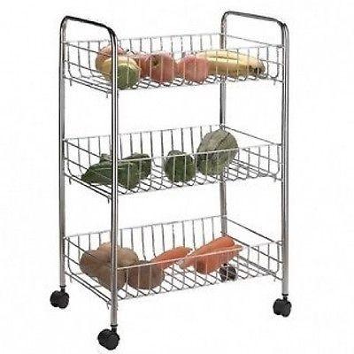 3 Tier Kitchen Cart Rack Storage Shelf Caddy Fruit