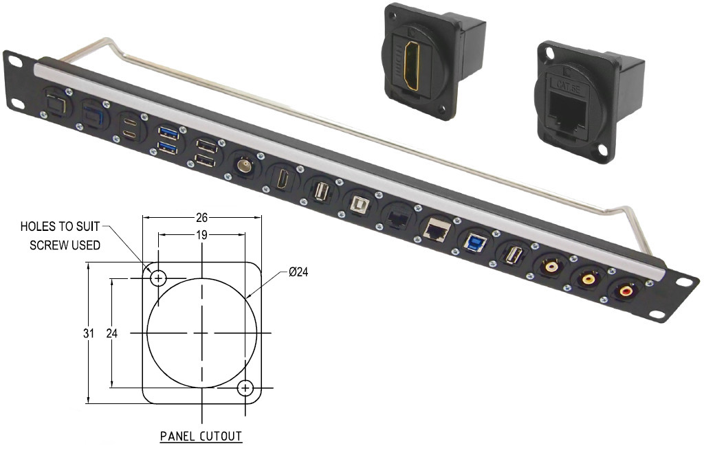 CLIFF Electronic Components - Plastic Feedthrough Data Connectors in