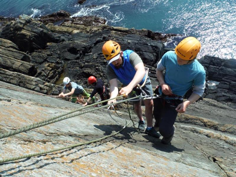 A Staff Sea-Cliff Rescue Training Day in Pembrokeshire in my role as Technical Advisor to a local center..