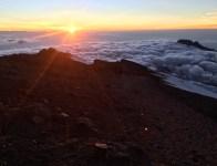 Sunrise from near the summit of Kilimanjaro
