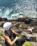Learn to lead climb on the Pembrokeshire sea cliffs...