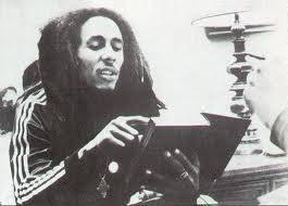 Bob Marley reading the Bible!