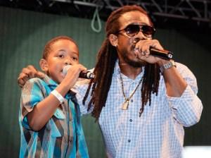 """Wayne Marshall and his son Giomar perform """"Stupid Money"""""""