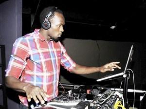 Usain Bolt @ the controls at Tracks & Record
