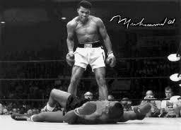 Muhammed Ali defeating Sonny Liston