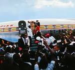 Haile Selassie arrival in Jamaica, April 21, 1966