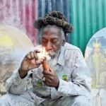 Bunny Wailer lighting up