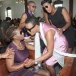 Lady Saw @ J Capri's funeral service.