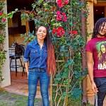 Cedella Marley & her son Skip Marley