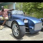 Leroy Sibbles with his home made car