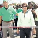 Faye Jacobs with Prime Minister Andrew Holness