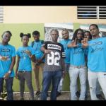 Konshens and crew giving a helping hand