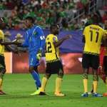 Jamaica's goalkeeper Andre Blake (2nd L) celebrates with teammates after defeating Canada 2-1 in their 2017 CONCACAF Gold Cup quarterfinal match at the University of Phoenix Stadium on July 20, 2017 in Glendale, Arizona. (Photo: AFP)