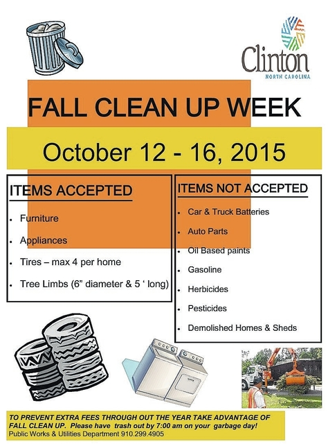City cleanup set for Oct 12-16 Sampson Independent