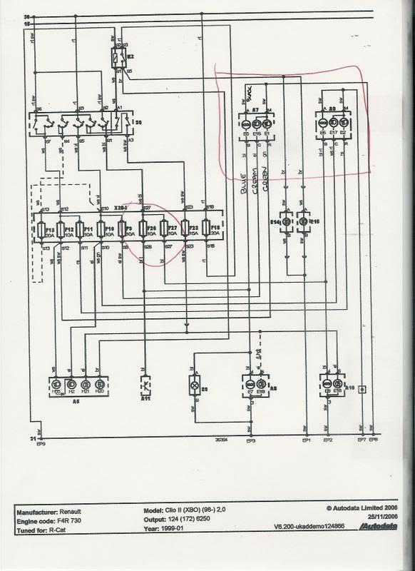 renault megane airbag wiring diagram