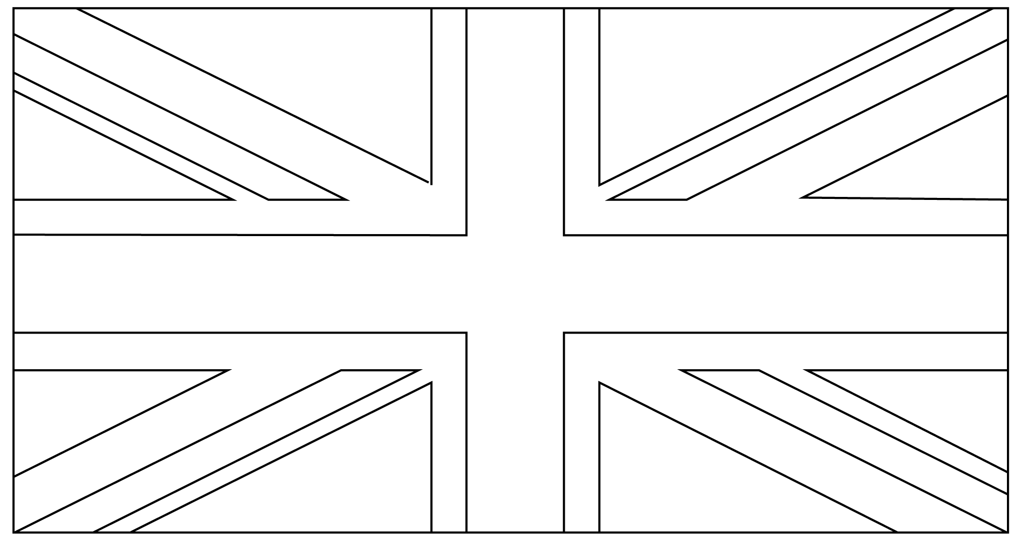 Union Jack Flags Coloring Pages SaveEnlarge