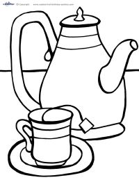 Teacup Coloring Page - ClipArt Best