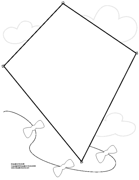 kite cut out pattern