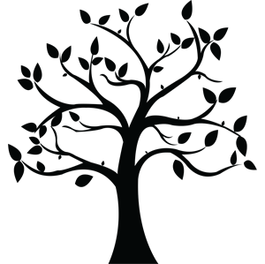 Black And Mustard Wallpaper Simple Tree Silhouette Clipart Best