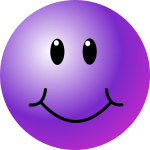 Purple Smiley Face Clip Art