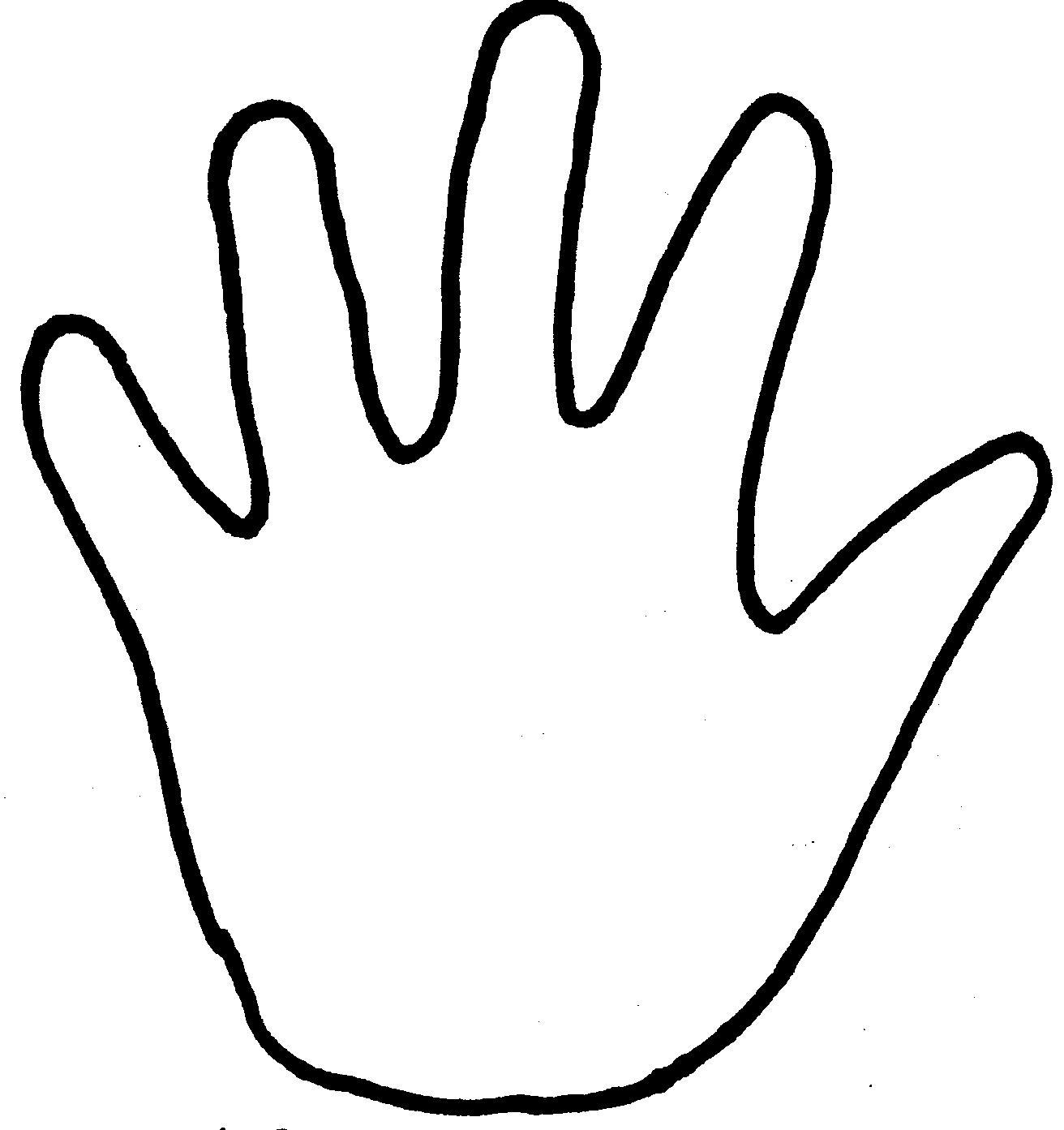 Handprint Coloring Page - Eskayalitim