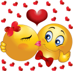 Animated Kissing Smiley Faces