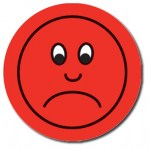 Red Sad Face Clip Art
