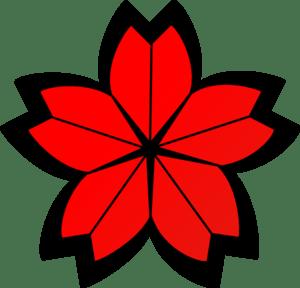 Cherry blossom crest clip art vector clip art online