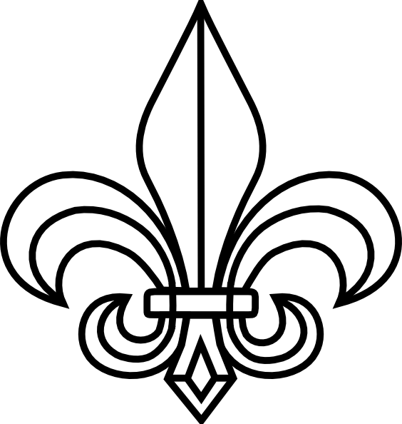 image relating to Fleur De Lis Stencil Printable referred to as Free of charge Printable Fleur De Lis Stencil Obtain No cost Clip