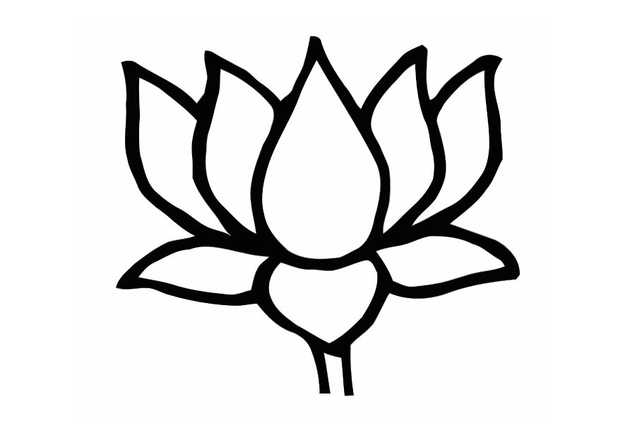Lotus Flower Template Clipart Best