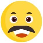 Mustache Smiley Face Clip Art