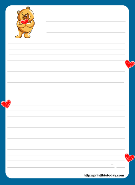 Lined Page Borders