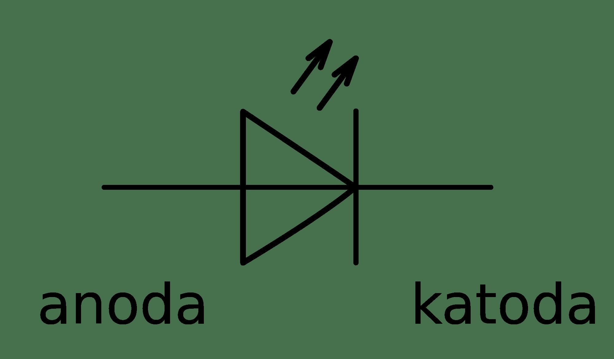led light emitting diode symbol