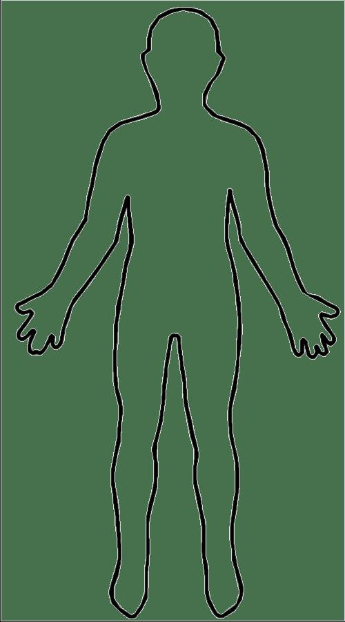 blank human body