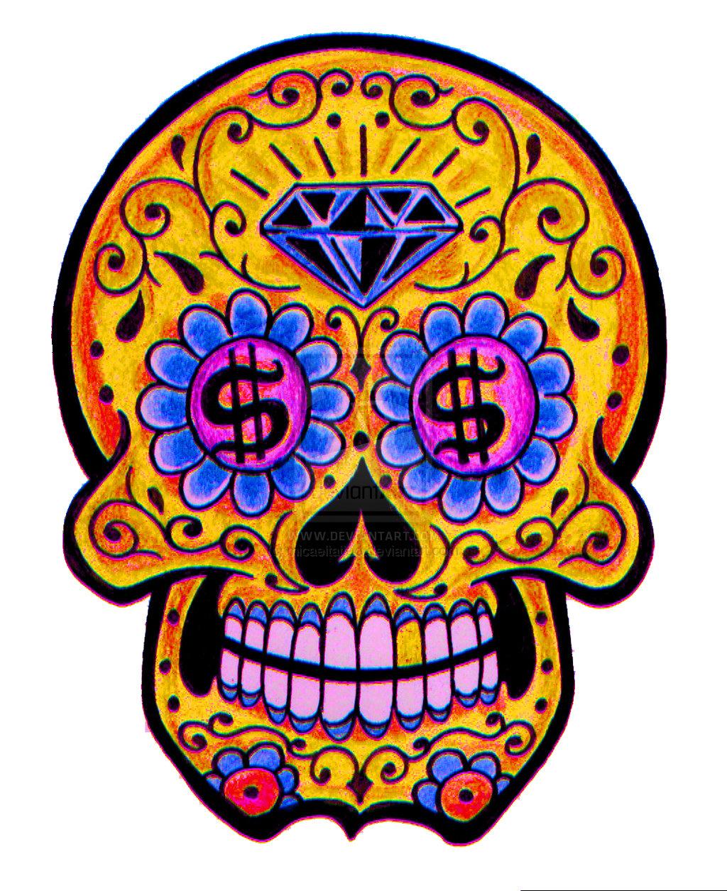 Sugar skull by micaeltattoo designs interfaces tattoo
