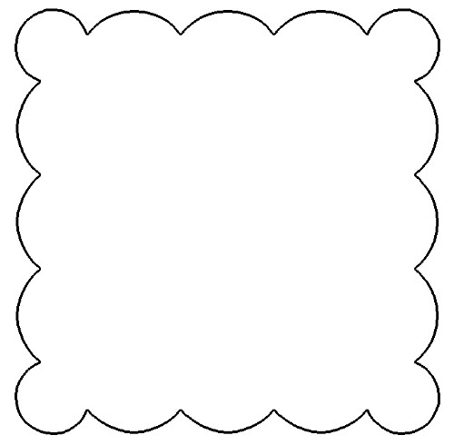 scalloped frame template