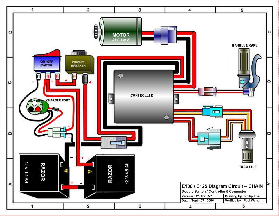 avigo electric scooter wiring diagram