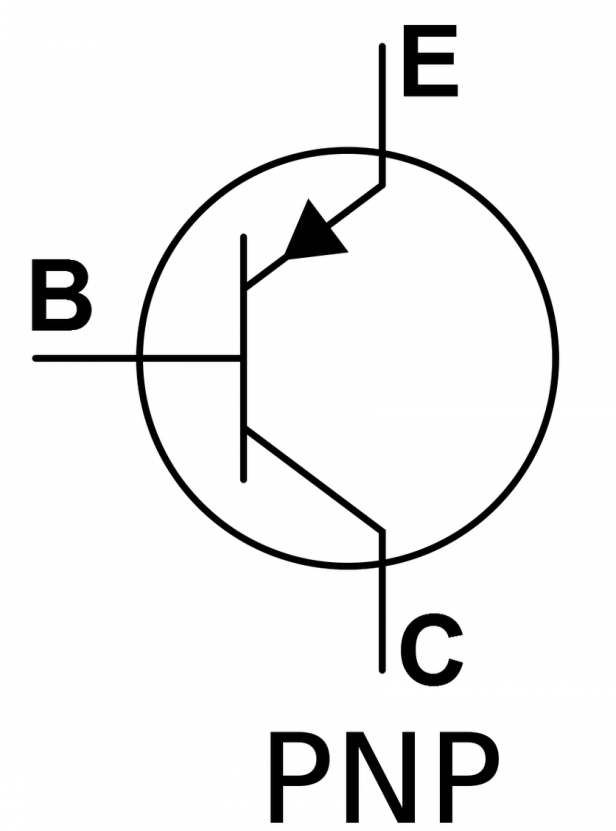 transistor symbol on the schematic symbol