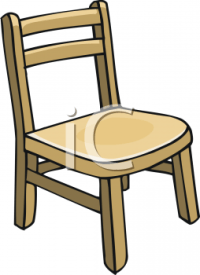 Child's Wooden Chair - Royalty Free Clip Art Illustration