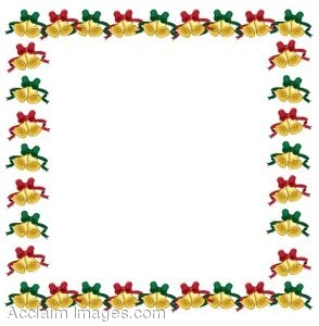 Fall Party Religious Fun Wallpaper Clip Art Of Page Border Made Of Christmas Bells