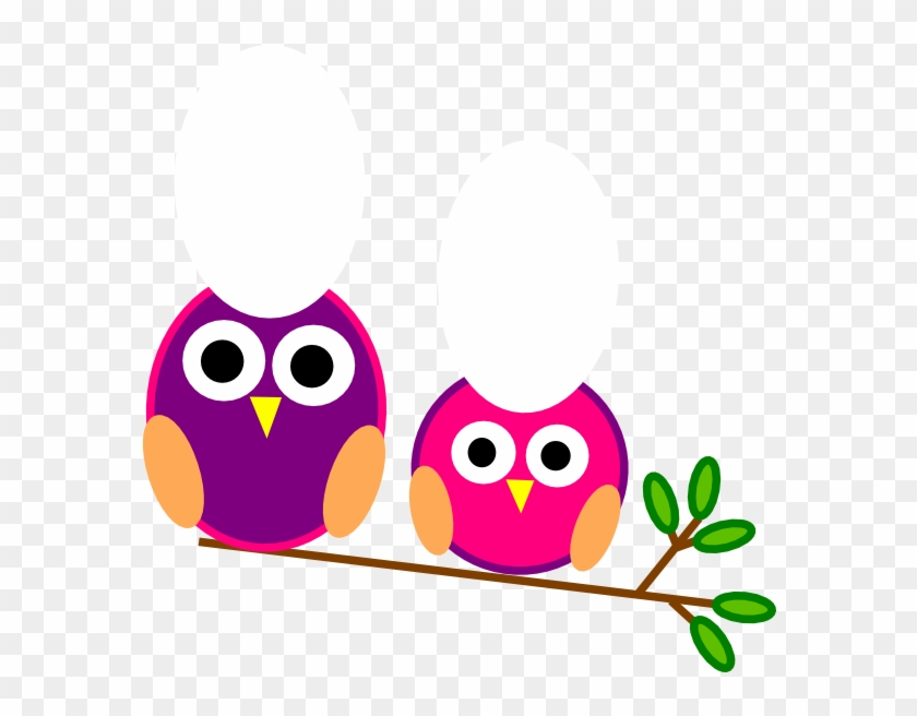 Cute Pink And Purple Owls Clip Art At Clker - Editable Classroom