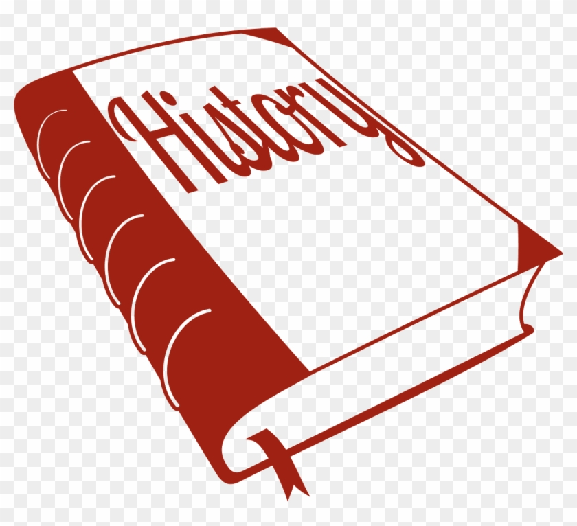Clip Art History Book Outline Red Clipart The Cliparts - Word