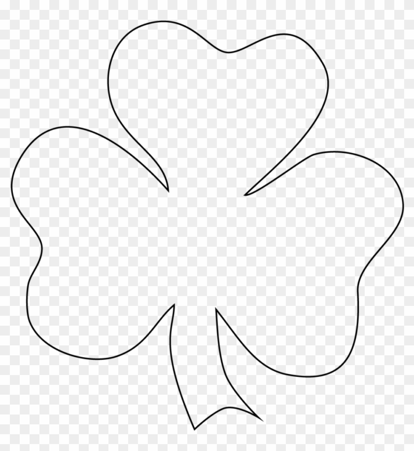 Love Free Printable Shamrock Template - Shamrock To Color - Free