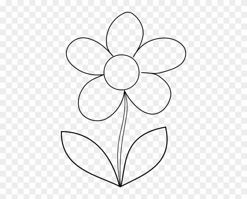 Clear Flower Clip Art - Free Printable Flower Template - Free