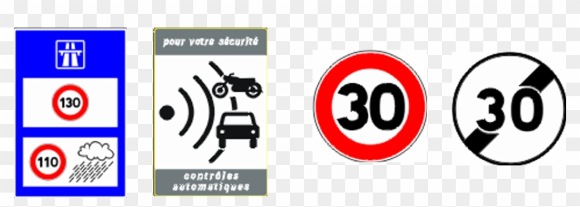 From - French Speed Limit Signs - Free Transparent PNG Clipart