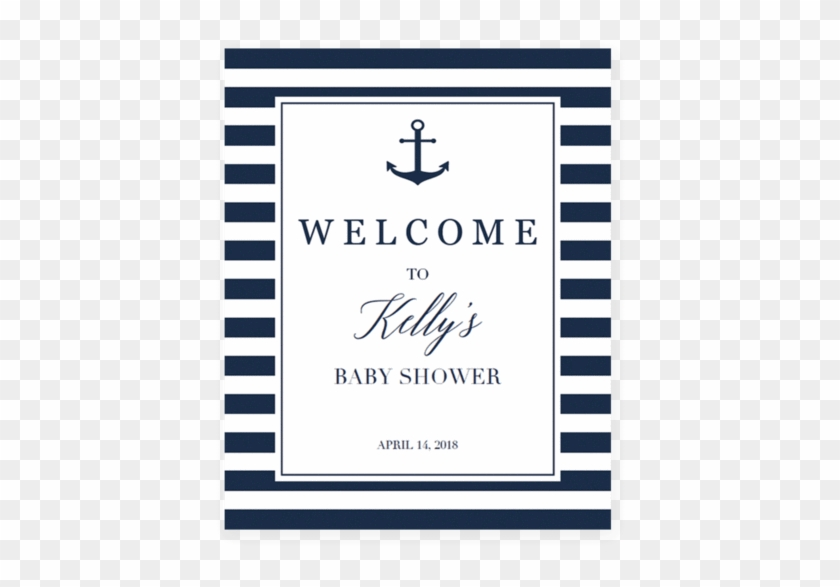 Nautical Baby Shower Welcome Sign Printable - Message In A Bottle