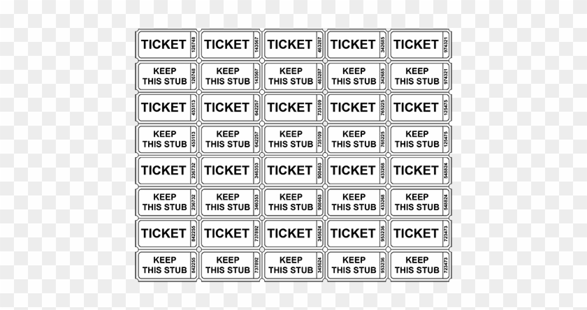 Printable Raffle Tickets Template - Numbered Raffle Tickets Template